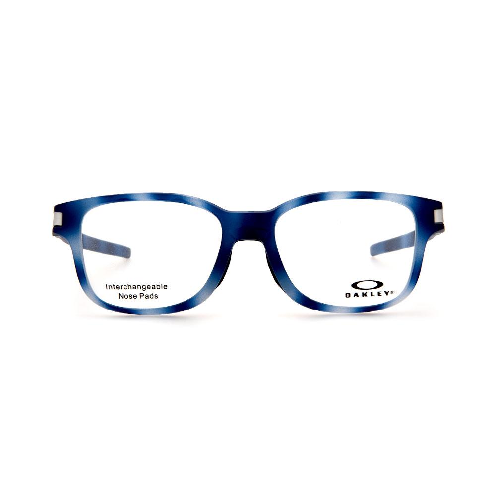 OAKLEY Latch SS OX8114-0452 Rectangle Matte Blue Tortoise Eyeglasses