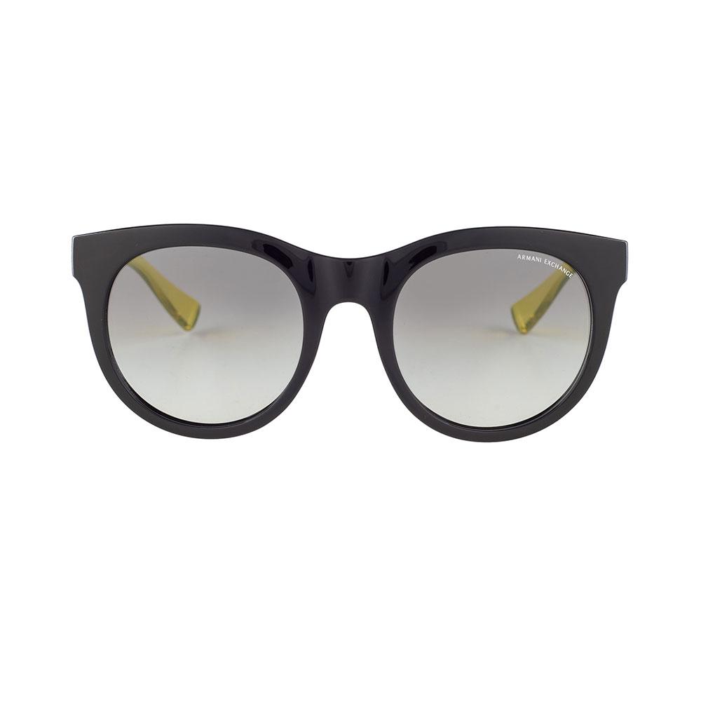 ARMANI EXCHANGE Black Round Sunglasses AX4053SF