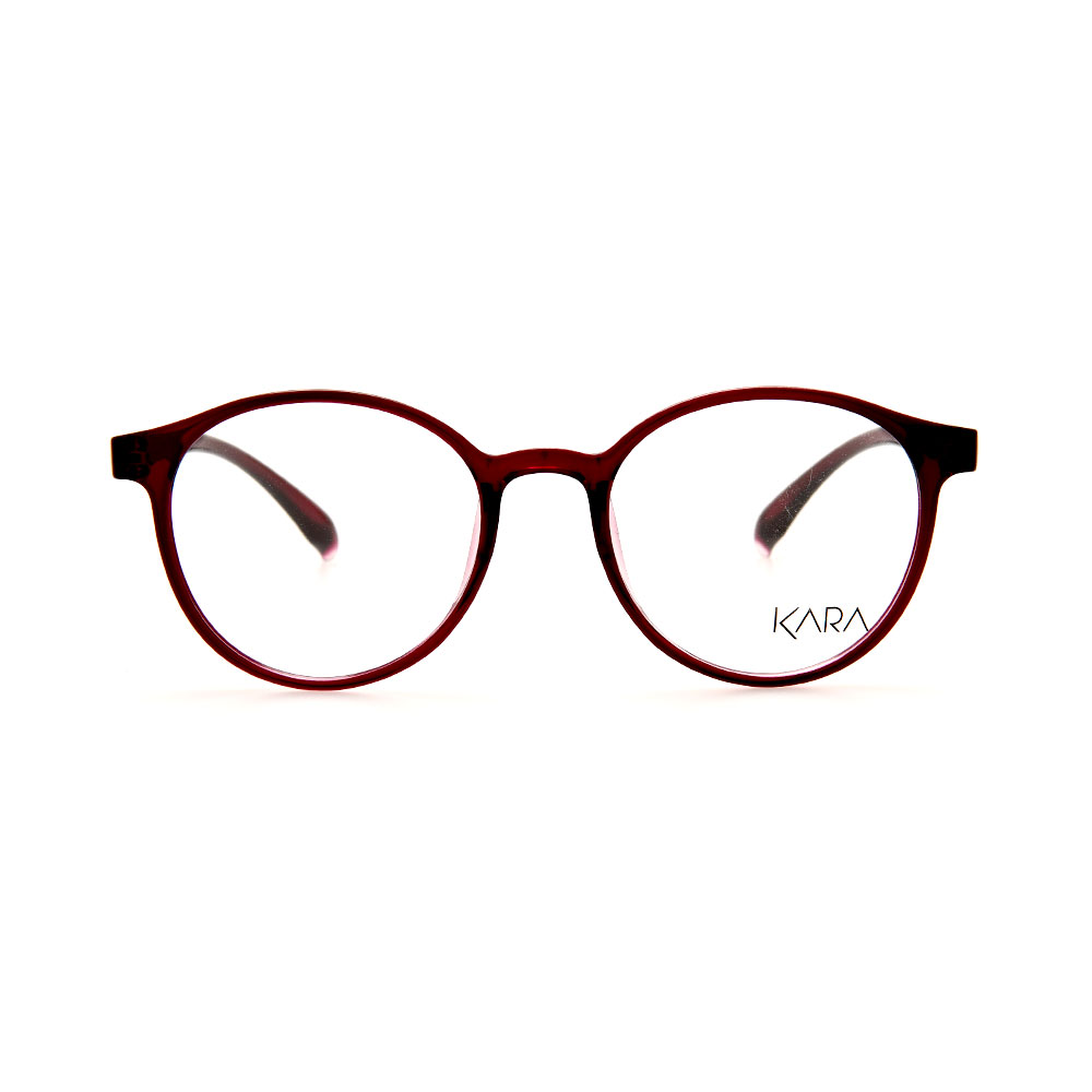 KARA BR2162 C3 Red Oval Eyeglasses
