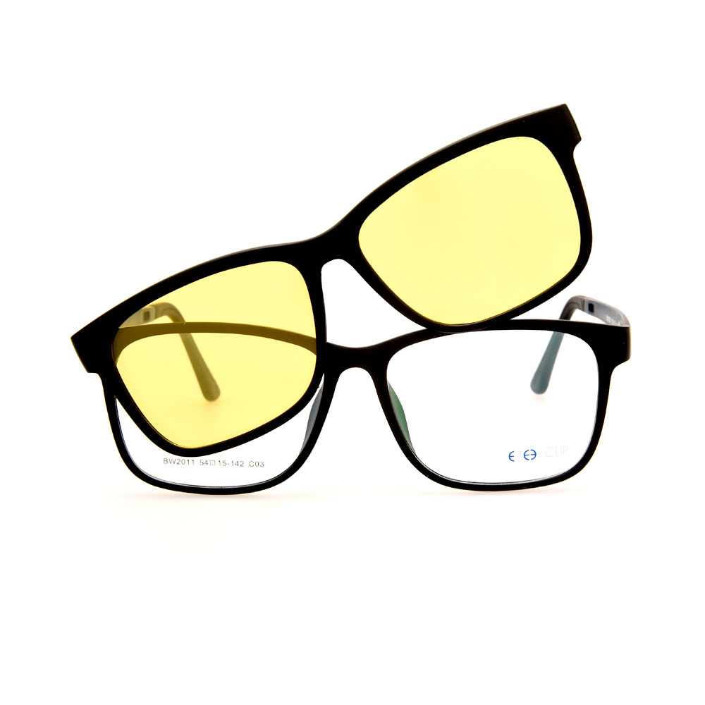 EZE CLIP Unisex Multipuporse Clip-On BW2011 C03 Yellow/Black Lens Glasses