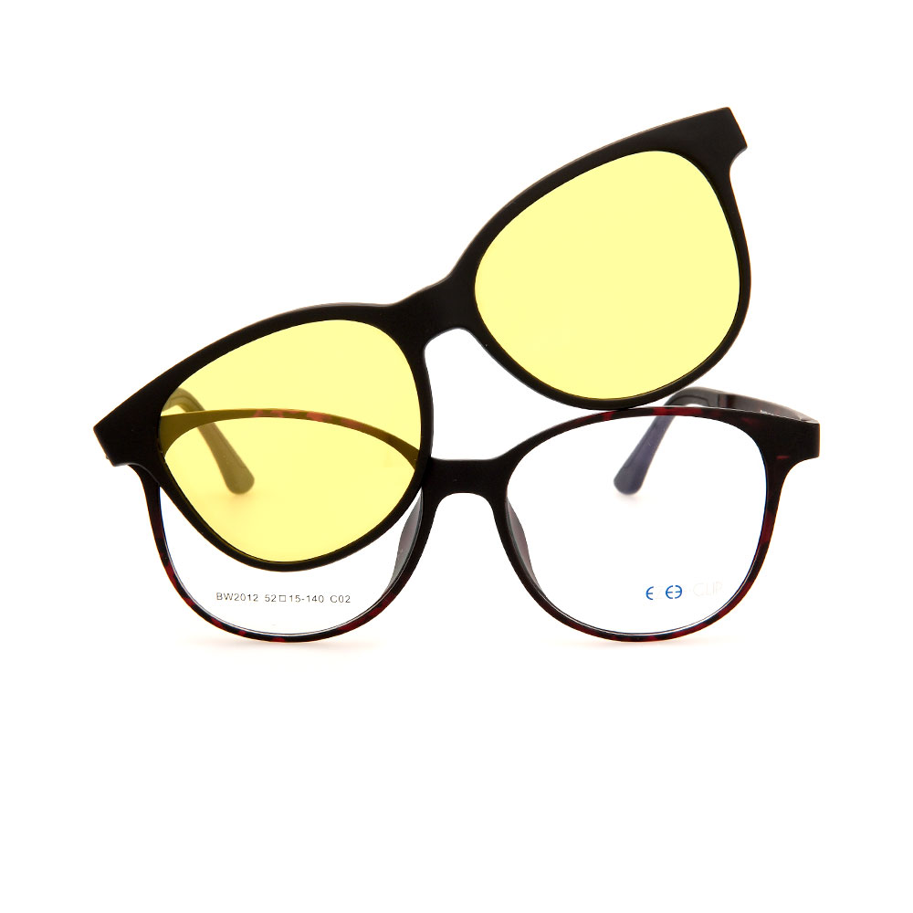 EZE CLIP Unisex Multipuporse Clip-On BW2012 C02 Yellow/Pink Lens Glasses