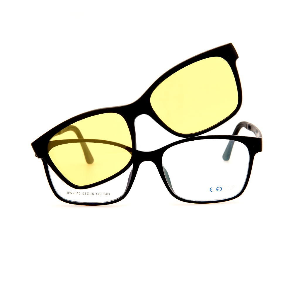 EZE CLIP Unisex Multipuporse Clip-On BW2015 C01 Yellow/Black Lens Glasses