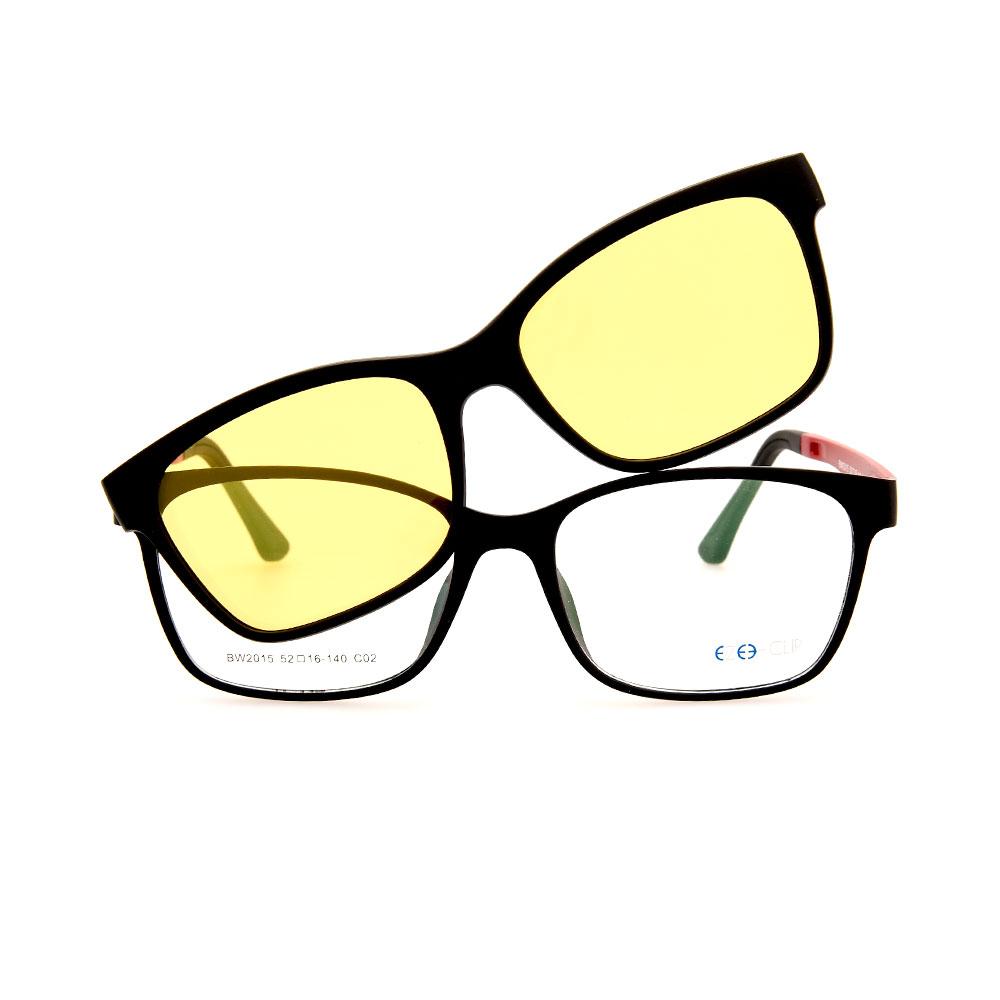 EZE CLIP Unisex Multipuporse Clip-On BW2015 C02 Yellow/Pink Lens Glasses