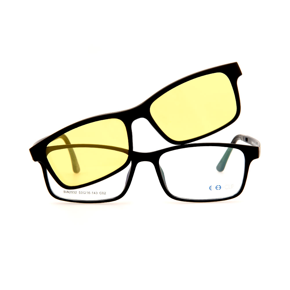 EZE CLIP Unisex Multipuporse Clip-On BW2032 C02 Yellow/Black Lens Glasses