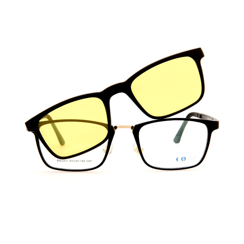EZE CLIP Unisex Multipuporse Clip-On BW2201 C01 Yellow/Grey Lens Glasses