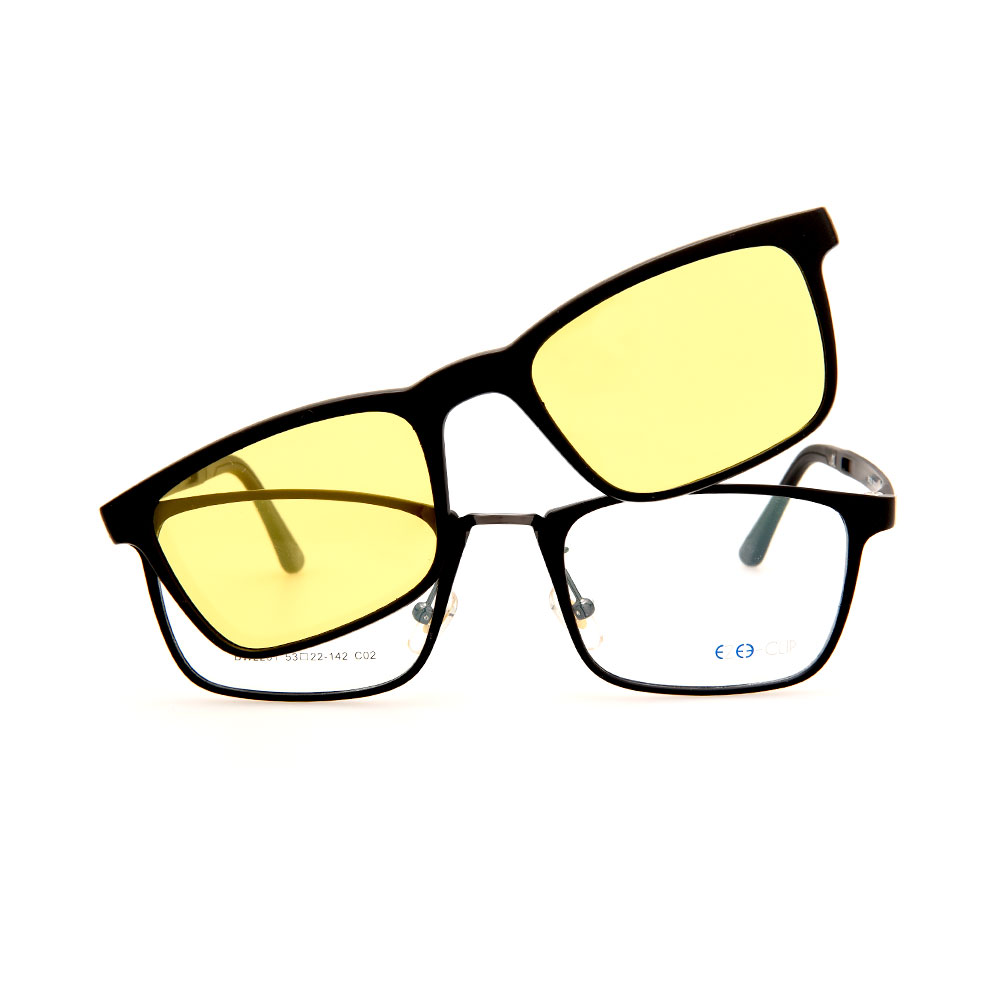 EZE CLIP Unisex Multipuporse Clip-On BW2201 C02 Yellow/Black Lens Glasses