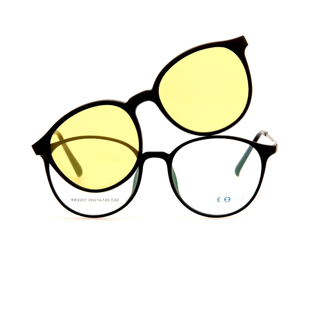EZE CLIP Unisex Multipuporse Clip-On BW2207 C02 Yellow/Black Lens Glasses