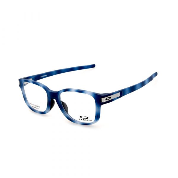 OAKLEY Latch SS OX8114-0452 Rectangle Matte Blue Tortoise Eyeglasses