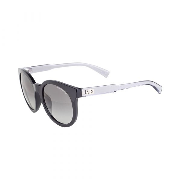 ARMANI EXCHANGE Black Round Sunglasses AX4057SF