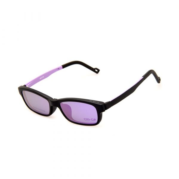 EZE CLIP Unisex Multipuporse Clip-On BW2306 C04 Yellow/Purple Lens Glasses