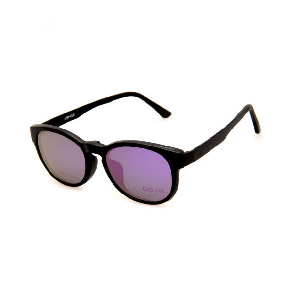 EZE CLIP Unisex Multipuporse Clip-On BW2001 C01 Yellow/Purple Lens Glasses