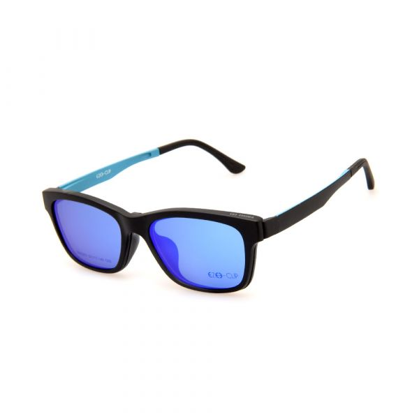 EZE CLIP Unisex Multipuporse Clip-On BW2002 C03 Yellow/Blue Lens Glasses
