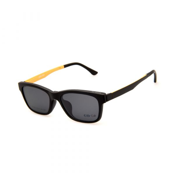 EZE CLIP Unisex Multipuporse Clip-On BW2002 C04 Yellow/Black Lens Glasses