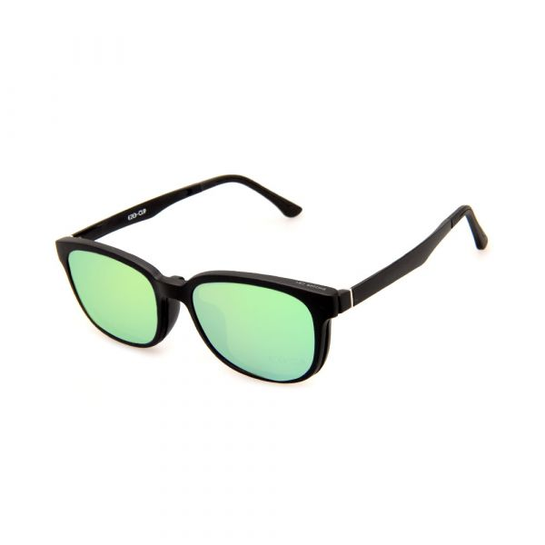 EZE CLIP Unisex Multipuporse Clip-On BW2009 C01 Yellow/Green Lens Glasses