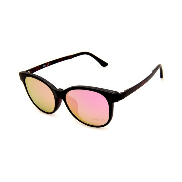 EZE CLIP Unisex Multipuporse Clip-On BW2012 C02 Yellow/Pink Lens Glasses