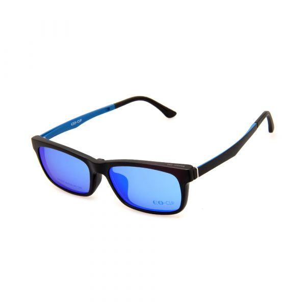 EZE CLIP Unisex Multipuporse Clip-On BW2031 C03 Yellow/Blue Lens Glasses