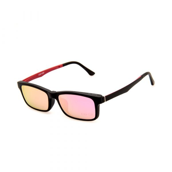 EZE CLIP Unisex Multipuporse Clip-On BW2032 C04 Yellow/Pink Lens Glasses