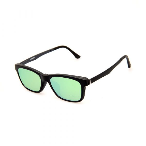 EZE CLIP Unisex Multipuporse Clip-On BW2033 C02 Yellow/Green Lens Glasses