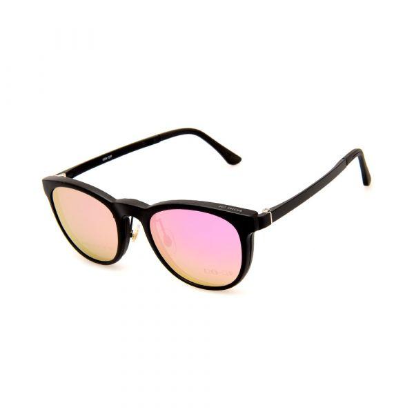 EZE CLIP Unisex Multipuporse Clip-On BW2202 C02 Yellow/Pink Lens Glasses