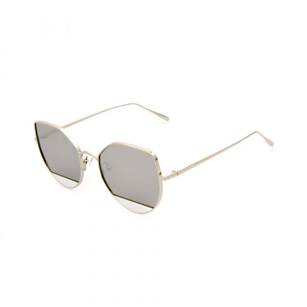 MADDOX Cat-Eye Female Silver DE16394 C04 Sunglasses