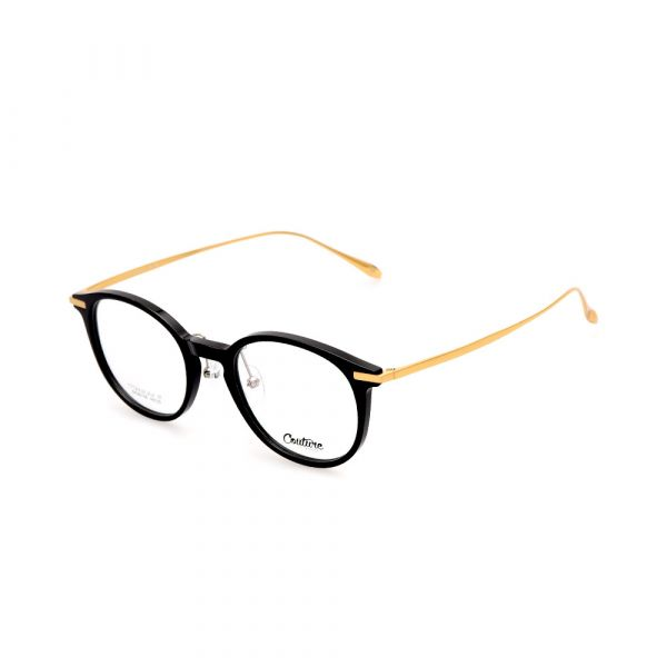 WHOOSH Couture Vintage Series Black DFM5106 C1 Unisex Eyeglasses