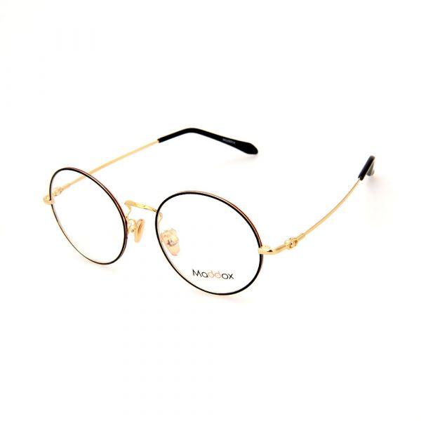 MADDOX Unisex Round Black/Gold SAF00005MX C1 Eyeglasses