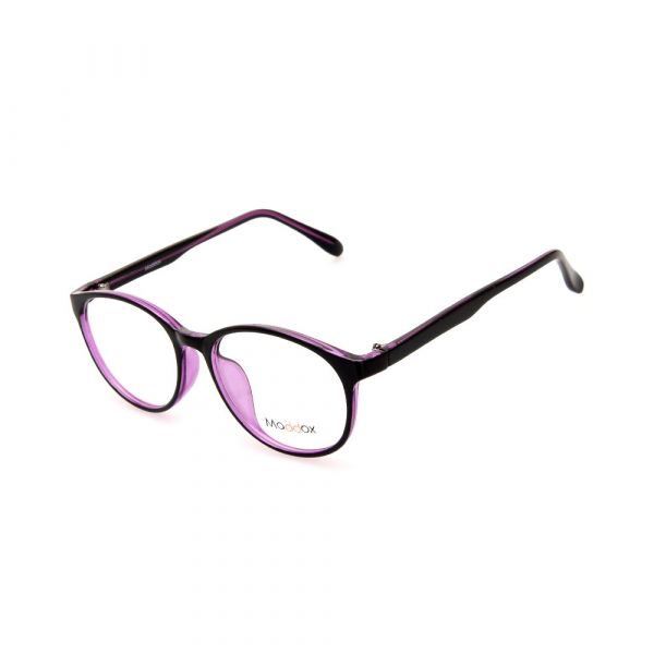 MADDOX Unisex Oval Black/Purple SAF8486MX C3 Eyeglasses