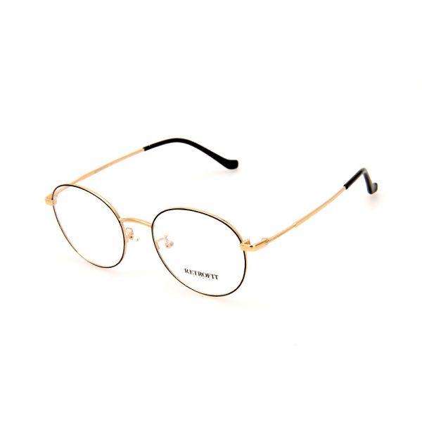 RETROFIT WFIH1031 C5 Gold Round Eyeglasses