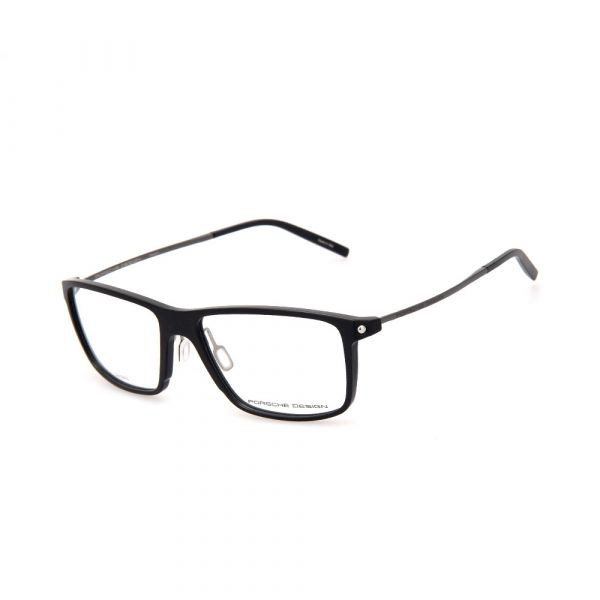 PORSCHE DESIGN Black/Silver Rectangle 8336 A Eyeglasses