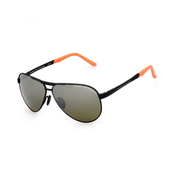 PORSCHE DESIGN Black/Grey Aviator 8649 G Sunglasses