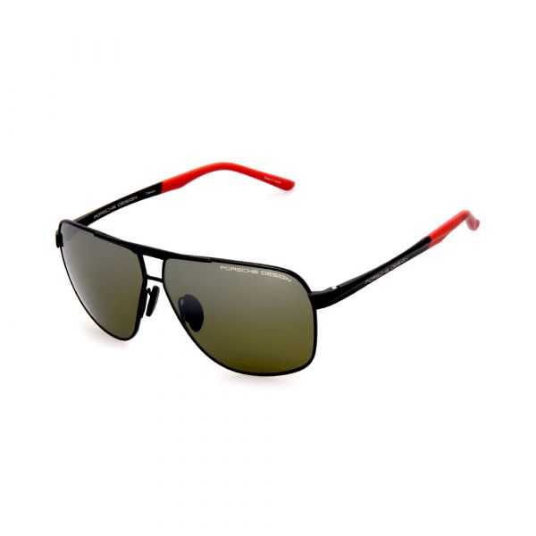 PORSCHE DESIGN Black/Grey Aviator 8665 E Sunglasses