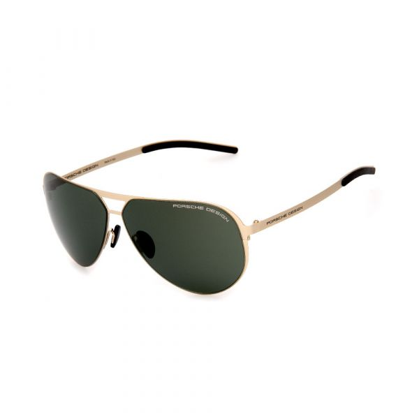 PORSCHE DESIGN Black/Gold Aviator 8670 C Sunglasses