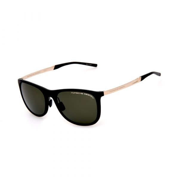PORSCHE DESIGN Black/Gold Square 8672 C Sunglasses