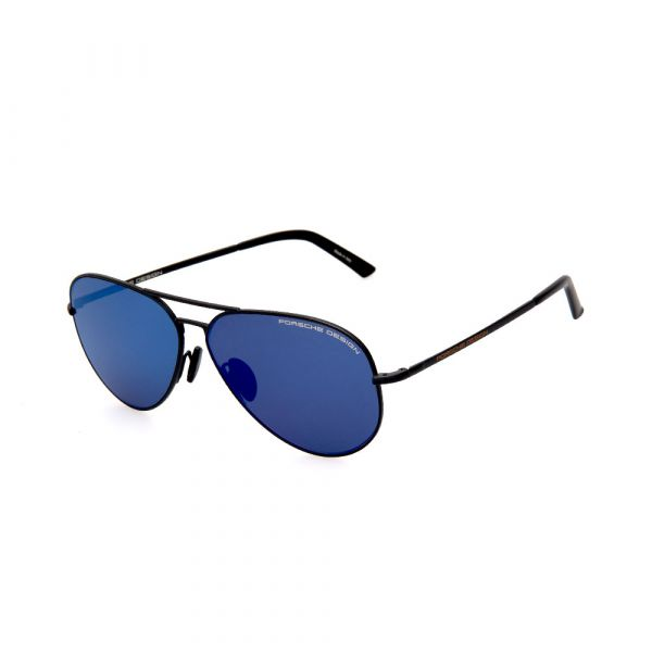 PORSCHE DESIGN Black/Blue Aviator 8686 A Sunglasses