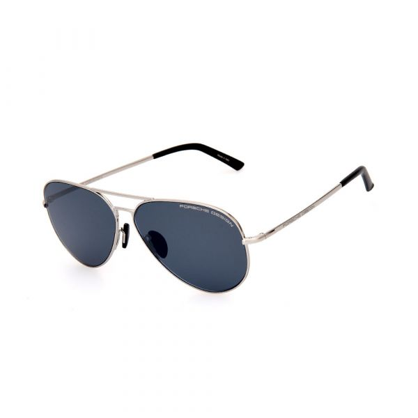 PORSCHE DESIGN Silver/Black Aviator 8686 C Sunglasses
