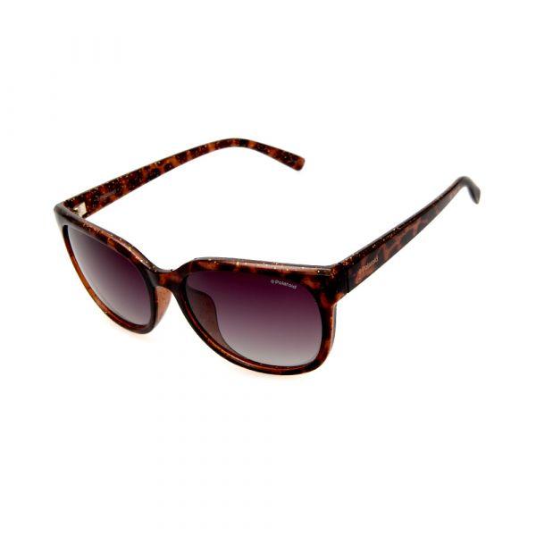 POLAROID Female Cat-Eye Leopard Print PLD4030 Brown Polarized Lenses Sunglasses