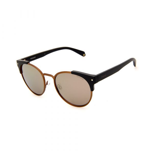 POLAROID PLD6038/S/X 003LM Female Oval Black/Brown Polarized Sunglasses