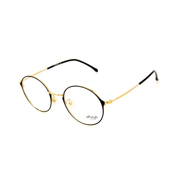 WHOOSH Urban Series Black/Gold Round WFIH1012 C8 Eyeglasses