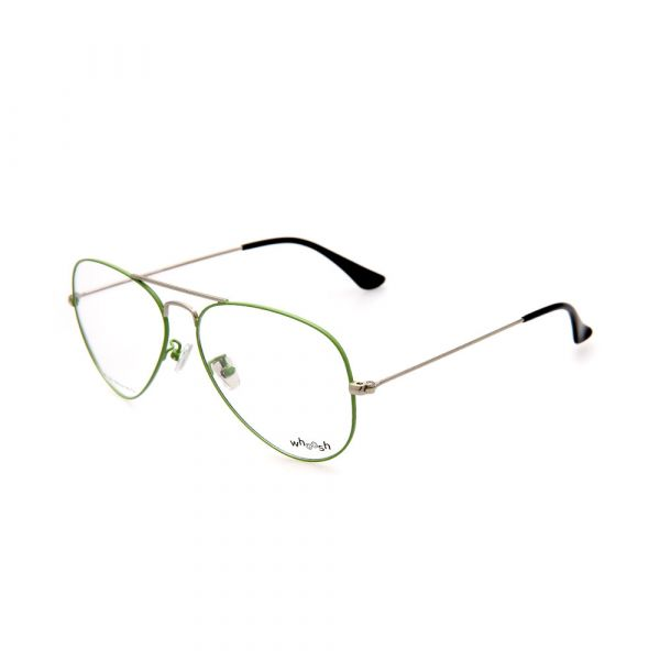 WHOOSH Trendy Series Green Aviator HE1001 C3 Unisex Eyeglasses