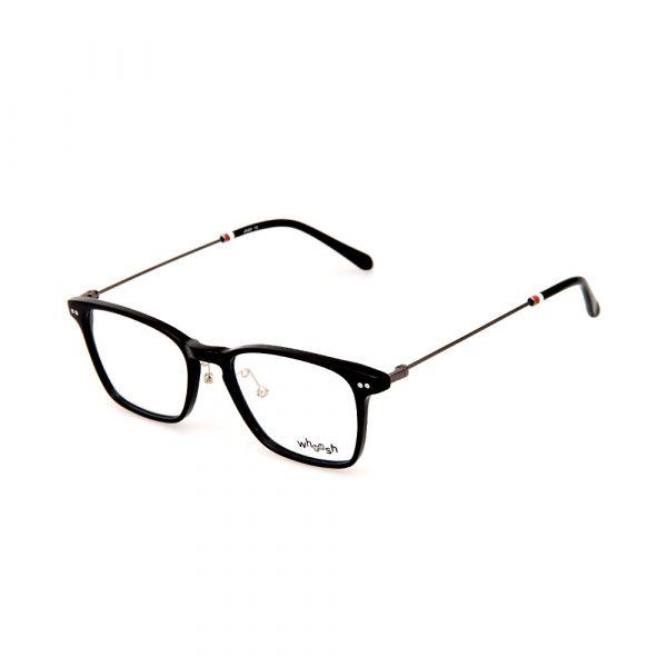 WHOOSH Vintage Series  Black Square Unisex HES165 C1 Eyeglasses