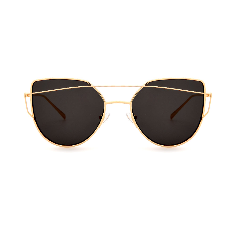MADDOX Cat-Eye Female Gold DE16393 C05 Sunglasses