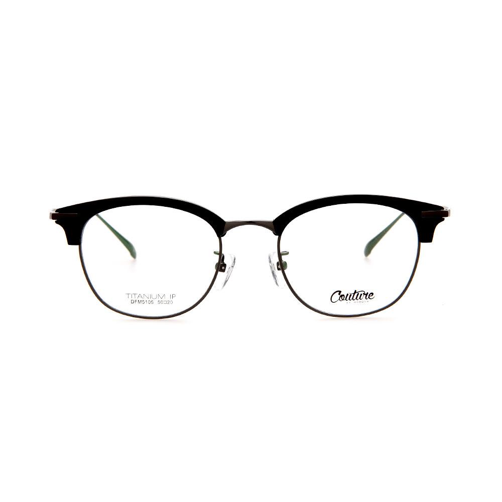 WHOOSH Couture Vintage Series Black DFM5105 C1A Unisex Eyeglasses