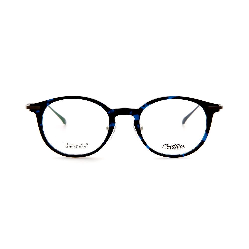 WHOOSH Couture Vintage Series Tortoise Blue DFM5106 C4 Unisex Eyeglasses