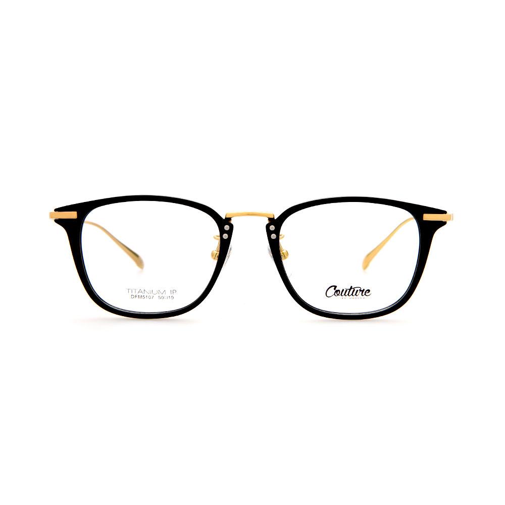 WHOOSH Couture Vintage Series Black DFM5107 C1 Unisex Eyeglasses