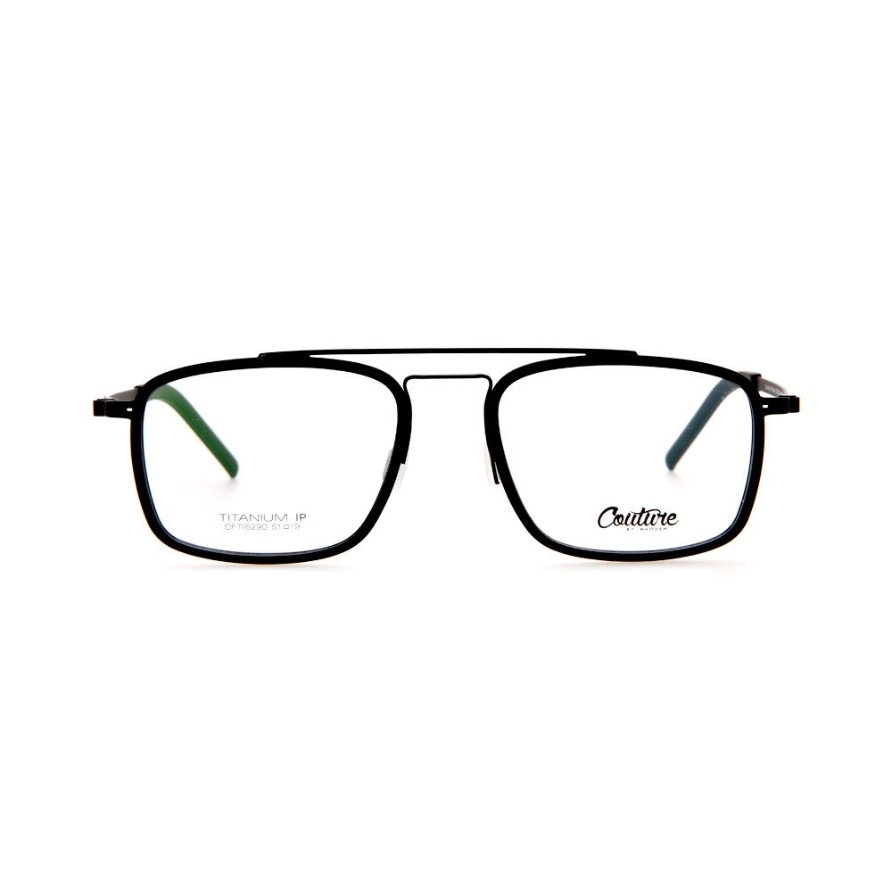 WHOOSH Couture Vintage Series Black DFTI6290 C1 Male Eyeglasses