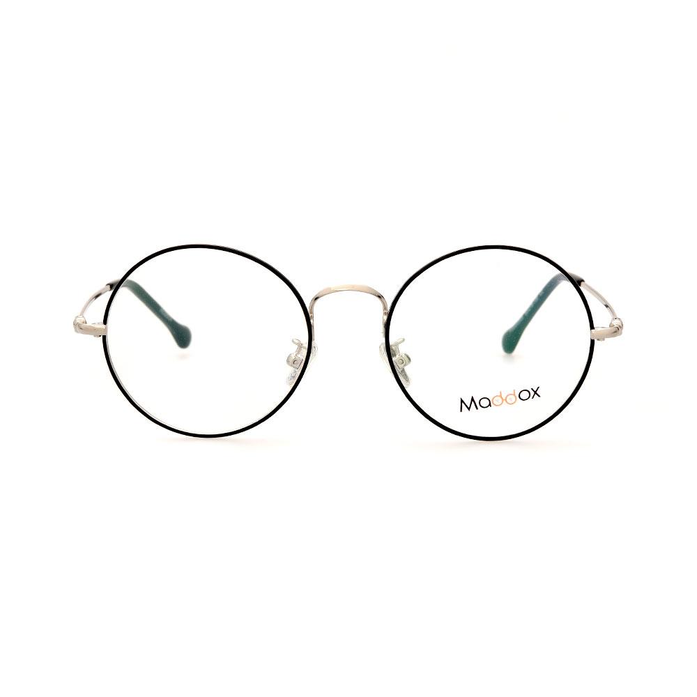 MADDOX Unisex Round Black/Silver SAF00005MX C2 Eyeglasses