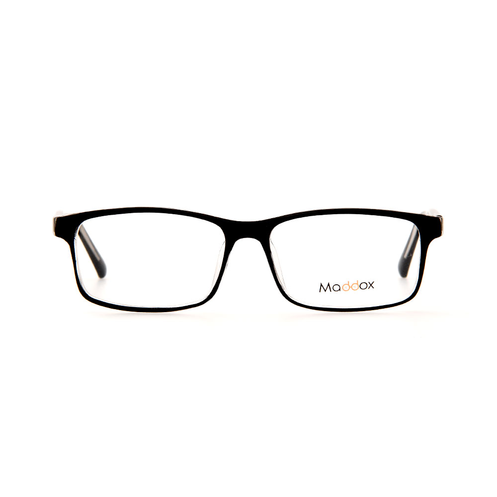MADDOX Unisex Rectangle Black/Silver SAF8476MX C2 Eyeglasses