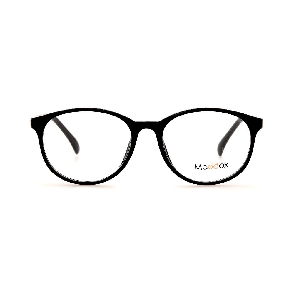 MADDOX Unisex Oval Black SAF8486MX C2 Eyeglasses