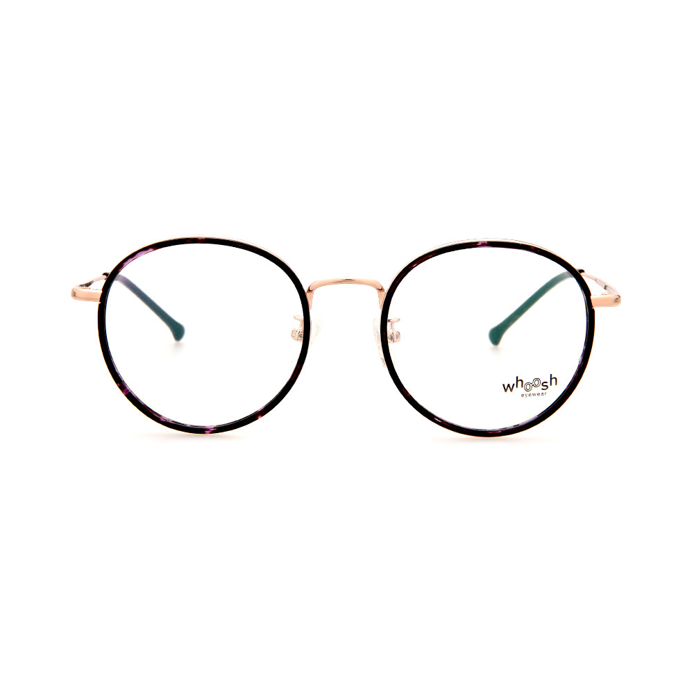 WHOOSH Trendy Series Black/Rose Gold Round WFIH1006 C95 Eyeglasses