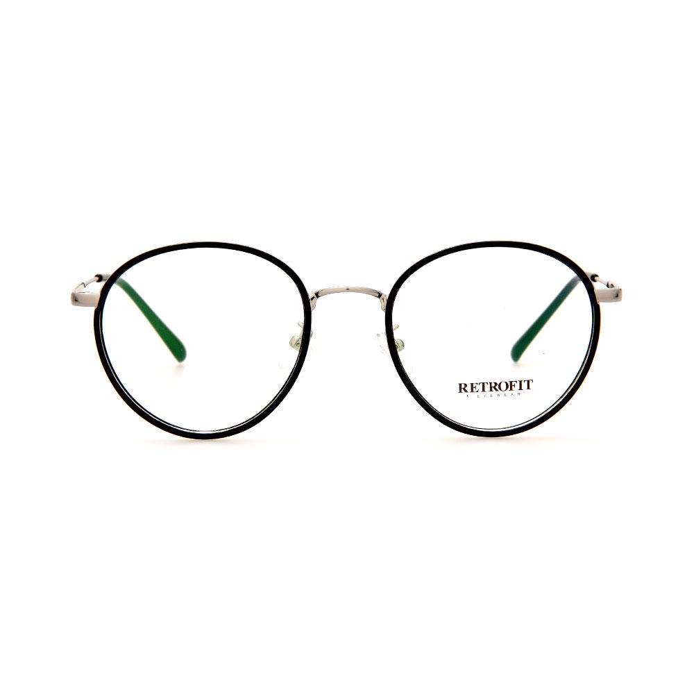 RETROFIT WFIH1039 C9 Black/Silver Eyeglasses